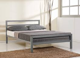 Metal Bed Frame Cover Time Living City Block Grey Metal Bed Frame