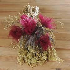 wedding oats cerise oats wedding flower girl bouquet artificial