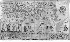 New England Map by 1607 Samuel De Champlain New England Map
