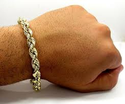 gold bracelet rope images 10k yellow gold rope chain 5mm bracelet 9 inches jpg