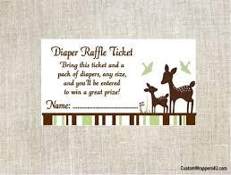 raffle baby shower baby shower raffle ticket willow deer