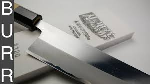 how to sharpen japanese gyuto chef knife on shapton pro 120 youtube