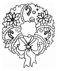 a sweet wreath ornament on coloring page netart