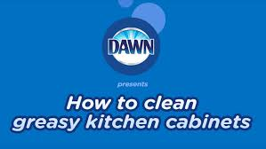 how to clean greasy kitchen cabinets youtube