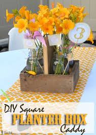 square planter box caddy mason jar centerpiece her tool belt