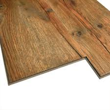Snap Together Vinyl Plank Flooring Monarch 7 In W X 48 In L Handscraped Antique Oak Floating