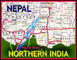 Map Of Nepal And India by Mikeldunham Nepal And India