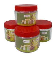 sunpet set 4 200ml red plastic food storage canisters jar