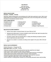sle of resume 10 sle retail sales resume templates pdf doc free premium