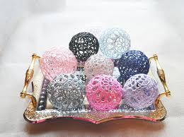 Pink Vase Fillers Lace Crochet Balls Wedding Decor Idea Vase Filler Handmade