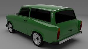 trabant trabant 601 estate 3d cgtrader