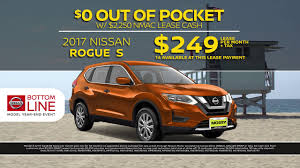 nissan rogue sport lease bottom line event 2017 nissan rogue s 249 lease youtube