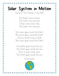 space lesson plans kindergarten songs and solar system song