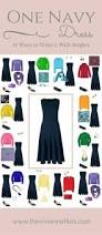 one navy dress in a capsule wardrobe 14 ways to wear it with