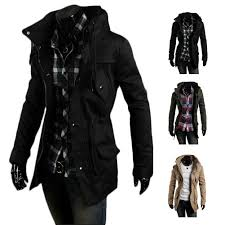 Vintage Mens Clothing Online S5q Men Vintage Military Coat Long Slim Trench Jackets Warm Winter