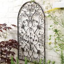 brilliant decoration outdoor wrought iron wall decor smart