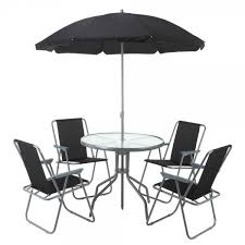 Patio Dining Sets With Umbrella Palm Springs Outdoor Dining Set With Table 4 Chairs And Umbrella