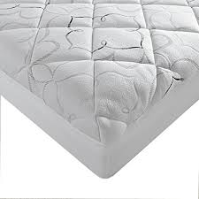 bed pillow topper sleep innovations instant pillow top memory foam and fiber hybrid