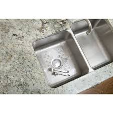 Kitchen Sink Rubber Mats Amazon Com Rubbermaid 2993ar Sink Mat With Drain Clear Single
