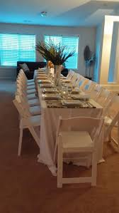 chair table rentals great formal dinner atlanta rental white resin chair table
