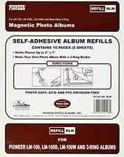 magnetic photo album pages magnetic photo album refills 10 pack for up to 20 8x10