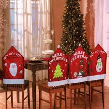 Christmas Chair Back Covers Set Of 4 Assorted Christmas Theme Chair Hat Back Covers Xmas Party