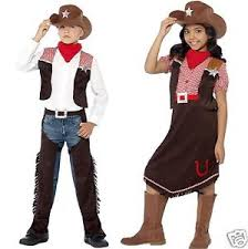 kids cowboy cowgirl wild west fancy dress costume world book day