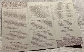 programs for wedding ceremony hindu wedding ceremony program blush paperie