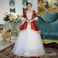 Ball Gown Halloween Costumes 100 Red White Lace Ball Gown Medieval Renaissance Gown
