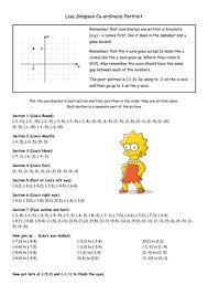 cartoon co ordinates worksheet by johannaradcliffe teaching