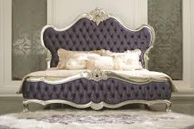 european king bed italian reproduction blue velvet silver frame king size queen size