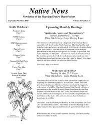 maryland native plant society download october 2009 native scape georgia native plant society