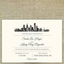 carlton invitations philadelphia skyline destination wedding invitation sample