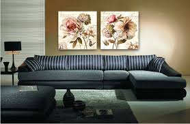 Dining Room Paintings by 2pcs Set European Style Retro Flower Oil Painting On Canvas