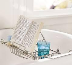 bathtub caddy with book holder embrace a night in with pottery barn mercer bathtub caddy holiday