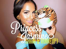 halloween tutorial princess jasmine hair u0026 makeup youtube
