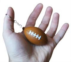 football favors 12 squishy brown football keychains for kids novel merk