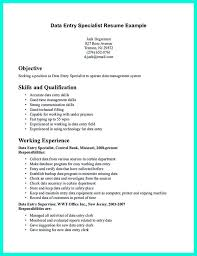 Seeking Description Epic Data Entry Specialist Description Resume 97 For Easy