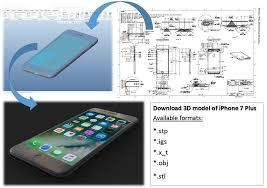 Dimensions Iphone 7 Plus Original Dimensions 3d Cgtrader