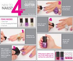 infographic who wants to apply glitter nail polish like a pro