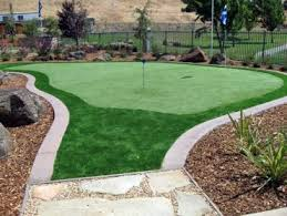 Small Backyard Putting Green Fake Grass Hillsborough California Backyard Deck Ideas Backyard
