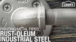 what of paint do you use on metal cabinets painting metal pipes rust oleum industrial steel finish