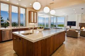 cool pendant drum shape lighting kitchen design ideas with frosted