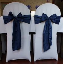 navy blue chair sashes chair covers