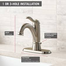 delta 15984lf porter single handle centerset bathroom faucet