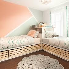 chambre color color blocks graphiques pour la chambre des filles chambre