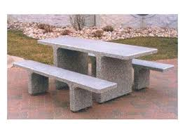 Wooden Picnic Tables With Separate Benches 7 Ft Rectangular Commercial Concrete Picnic Table With Detached