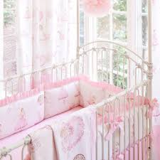 royal ballet crib bedding pink and ivory ballerina carousel