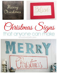 christmas signs painted christmas signs that anyone can make lovely etc