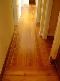 glued wide pine flooring